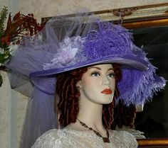 Victorian Hat � Lavender Lily Crystal Fairy