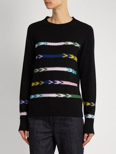 Barrie Summer Sailor crew-neck cashmere sweater