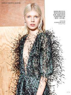 #OlaRudnicka by #RichardBurbridge for #VogueChinaCollections Spring 2015