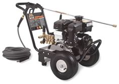 Mi-T-M Pressure Washer - JP-2703-0MRB Pump: Direct drive triplex piston AR pump with ceramic plungers · Stainless-steel and brass unloader · Adjustable pressure · Forged brass manifold · Thermal relief valve · In-line water strainer.Features        PSI 2700      GPM 2.4  See more and at http://www.shopetsonline.com/product-p/jp-2703-0mrb.htm