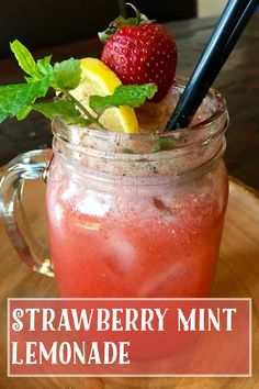 Gluten Free Recipes, My Recipes, Vegan Recipes, Mint Lemonade, Moscow Mule Mugs, Strawberry, Tasty, Fruit, Vegane Rezepte