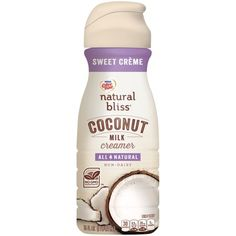 natural bliss® Sweet Crème Coconut Milk Coffee Creamer lends sweet, creamy notes to your coffee. Made with real Sumatran coconut cream in a container. Natural Coffee Creamer, Non Dairy Coffee Creamer, Coffee Barista, Coffee Menu, Coffee Cafe, Starbucks Coffee, Hot Coffee, Iced Coffee, Coffee Drinks