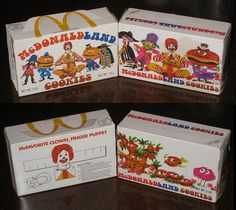- McDonaldland Cookie boxes 1975 and 1972 side-by-side comparison Until I saw this picture, I had completely forgot about McDonald's cookies!Until I saw this picture, I had completely forgot about McDonald's cookies!