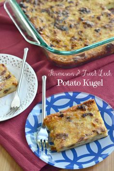 Parmesan & Fried Leek Potato Kugel