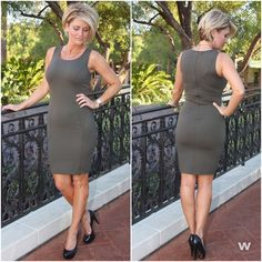 Blonde hair and haircut by JM Hair Gallery Henderson Nevada paul mitchell focus salon !Olive is one of the seasons colors! This classic dress is perfect for date night, GNO, weddings, etc. || #100415-2 || $38 || Feeling a little wild?? This little shift dress is the cure!! || #100415-1 || $34 || Click the Shop Now button at the top of our Facebook page or use our easy jot form located in our Instagram Bio #apricotlanetownsquare #newarrivals #olive