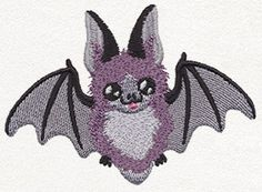 Happy Bat | Urban Threads: Unique and Awesome Embroidery Designs