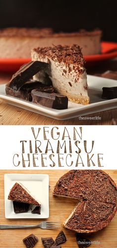 Your friends won't believe that this incredibly creamy and decadent Tiramisu Cheesecake is vegan. Go ahead and give it a try! Click the photo for the recipe.