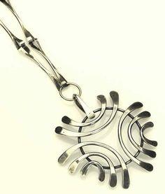 ART SMITH Silver modernist pendant
