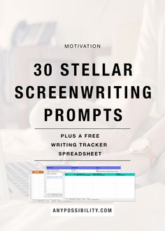 30 Stellar Screenwriting Prompts | Need some new ideas and inspiration? Check out these writing prompts to help you think of a short story, short film, movie idea, TV spec, or anything else. Plus, there is a free Writing Tracker Spreadsheet to help you keep track of your ideas! Filmmaking | Screenwriting | Film Industry | Filmmaker | Writing