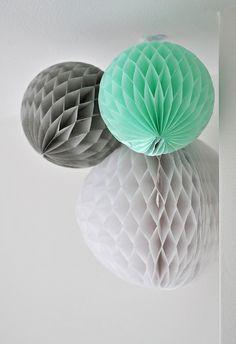 Honeycomb balls, via Flickr.