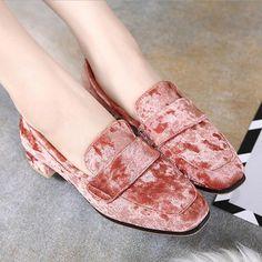 1fa5b8e5743 Retro Look Velvet Loafers 3 Colors - Savage Garb Retro Look