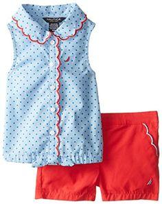Nautica Baby-Girls Infant Printed Oxford Shirt and Woven Short Set, Light Blue, 24 Months Nautica http://www.amazon.com/dp/B00OCLKCLK/ref=cm_sw_r_pi_dp_I16tvb17M74N2