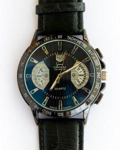 Tag Heuer Men's Black Watch With Black Belt