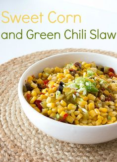 Corn and Green Chilli Slaw   infinebalance.com #recipe #salad #bbq