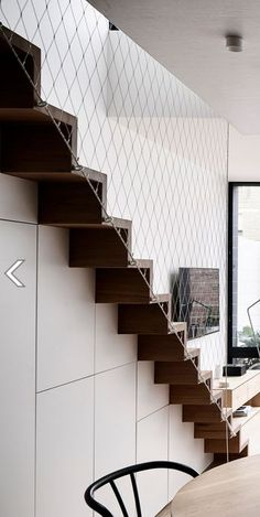 Gallery of The Carlton House / Tom Robertson Architects - 6 Modern Stairs Design, Staircase Railing Design, Staircase Railings, Carlton House, Loft Stairs, Filets, House Entrance, Industrial House, Building Design