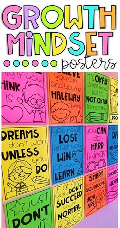 Growth Mindset Posters is part of Growth mindset posters Bring inspiration, positivity and motivation to your classroom with these growth mindset posters Immersing students into an environment with - Growth Mindset Classroom, Growth Mindset Activities, Growth Mindset Posters, Growth Mindset Display, Classroom Posters, Classroom Themes, Classroom Organization, Classroom Management, Classroom Websites
