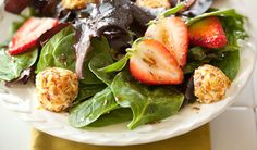 Spinach and Goat Cheese Salad with Honey Balsamic Dressing
