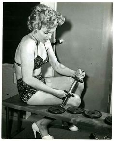 Marilyn Monroe - how did you think she kept in shape?