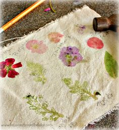 Preserve your Spring flowers with flower pounding! You won't believe how easy this is!