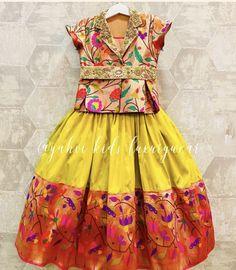 Baby Girl Lehenga, Kids Lehenga, Frock Patterns, Baby Girl Dress Patterns, Baby Frocks Designs, Kids Frocks Design, Indian Dresses For Kids, Girls Designer Dresses, Kids Blouse Designs