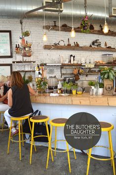 The Butcher's Daughter 19 Kenmare Street New York, NY 10012 tel: 212 219 3434 www.thebutchersdaughter.com