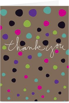 Dot Thanks Thank You Card