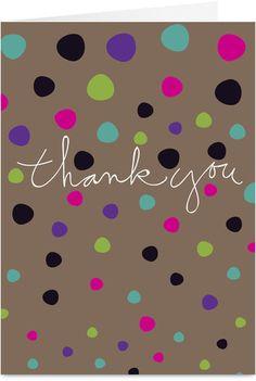Dot Thanks Thank You Card