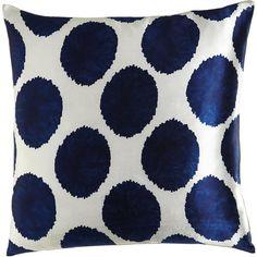 John Robshaw Manta Dot Pillow featuring polyvore, home, home decor, throw pillows, polka dot throw pillows, polka dot home decor and john robshaw