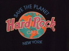 Going to school in Perfect Hard Rock Cafe Mens T shirt for you. It says NYC Large Save The Planet and it's made in USA Flamingo Pictures, Poster Retro, Vacation Style, Vacation Fashion, Cafe New York, Cartoon Wallpaper Iphone, Unique Logo, Hard Rock, City Style