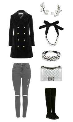 """""""Untitled #362"""" by sweet-strawberry-fairy ❤ liked on Polyvore featuring Lanvin, Yves Saint Laurent, Topshop, NOVICA, Ryan Storer and Chanel"""