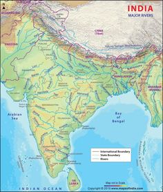 Find information about Indus River, its Origin, Drainage, Tributaries and Wildlife of the Indus River. Indus River Map showing the Route of Indus River. India World Map, India Map, India India, Indian River Map, Godavari River, Brahmaputra River, Ancient Indian History, Geography Map, Physical Geography