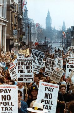 U.K. Anti-Poll Tax Demonstrators in London, 1990