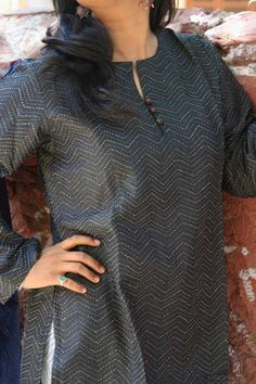 Double layered silk kurtas Churidar Neck Designs, Kurta Neck Design, Kurta Designs Women, Salwar Designs, Neck Designs For Suits, Neckline Designs, Dress Neck Designs, Blouse Designs, Salwar Pattern