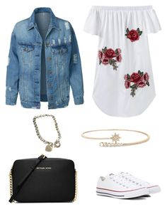 """""""Summer"""" by morganmaccc on Polyvore featuring Converse, LE3NO, MICHAEL Michael Kors and Tiffany & Co."""