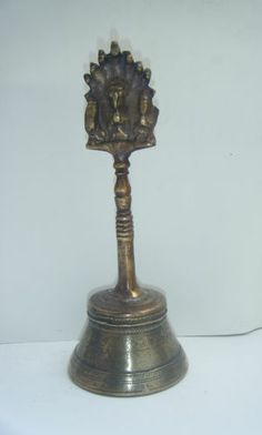 Brass Temple Bell Hindu Traditional Indian Ethnic Ritual Garuda Brass Bell #897
