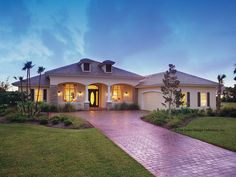 Mediterranean-Modern House Plan with 2885 Square Feet and 3 Bedrooms from Dream Home Source | House Plan Code DHSW53158