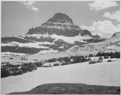 Logan Pass - Glacier National Park, ca. 1941 by Ansel Adams