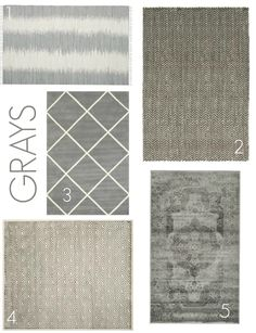 Rug options from Plush Rugs. www.4men1lady.com