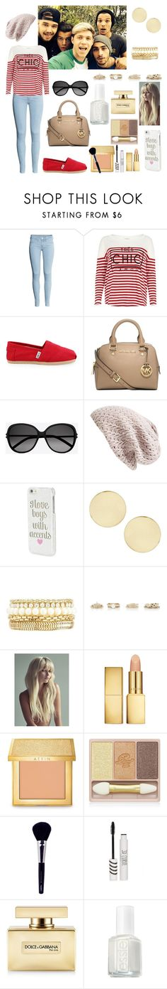 """""""Casual Day with the Boys(One Direction)"""" by elise-22 ❤ liked on Polyvore featuring H&M, River Island, TOMS, Michael Kors, Yves Saint Laurent, Nordstrom, Aéropostale, Topshop, Charlotte Russe and Forever New"""