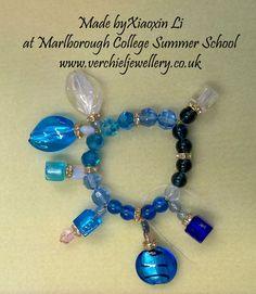 Bracelet made by Xiaoxin Li at Marlborough College Summer School run by www.verchieljewellery.co.uk