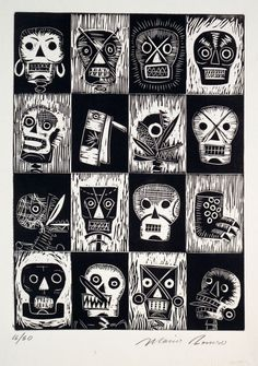Mario Romero (Mexico City, Mexico)  Linocut