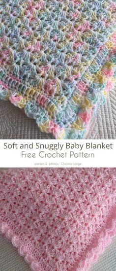 Crochet Baby Blanket Free Pattern, Crochet Stitches Patterns, Crochet Afghans, Baby Patterns, Free Crochet, Knitting Patterns, Kids Crochet, Baby Blankets To Crochet, Crochet Baby Poncho