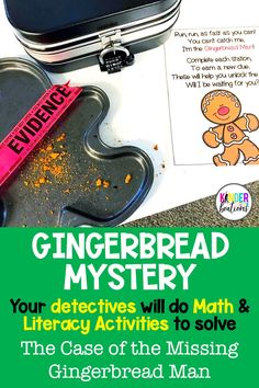 Are you ready to put an exciting twist on the traditional Gingerbread Man hunt? Welcome to the Gingerbread Detective Agency! Your detectives will be highly engaged as they solve the Case of the Missing Gingerbread Man through math and literacy centers and activities. Skills include CVC words, numbers to 20, retelling, and more!