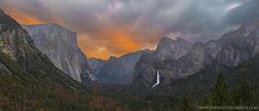 Sunrise in Yosemite Valley CA [OC][1500x644]