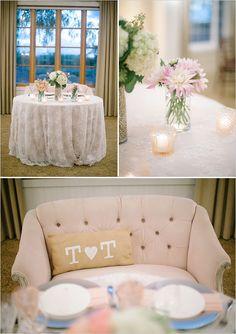 elegant sweetheart table #headtable  #gardenwedding #weddingchicks http://www.weddingchicks.com/2014/01/16/dynamite-and-pearls-wedding/