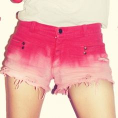 Make Old ugly jeans to Ombre Pants under $2.