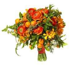 Incorporating fruit imparts a wonderful summer feel in our wedding bouquets.