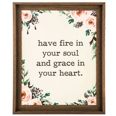 Fire In Your Soul Floral Wood Wall Decor