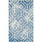 Dip Dye Blue/Ivory 3 ft. x 5 ft. Area Rug
