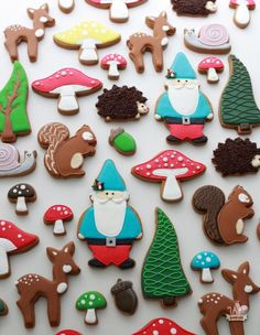 // Woodland Theme Decorated Cookies  Sweetopia //